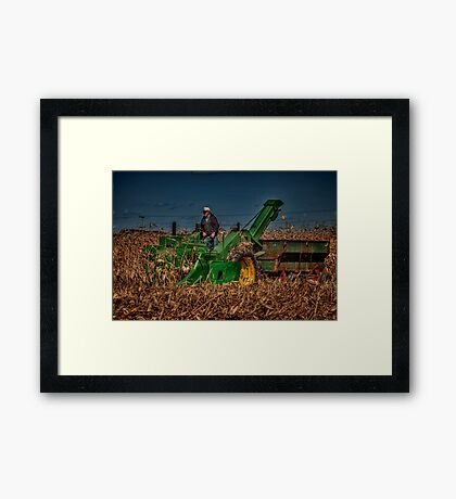 JD Corn Picker Framed Print