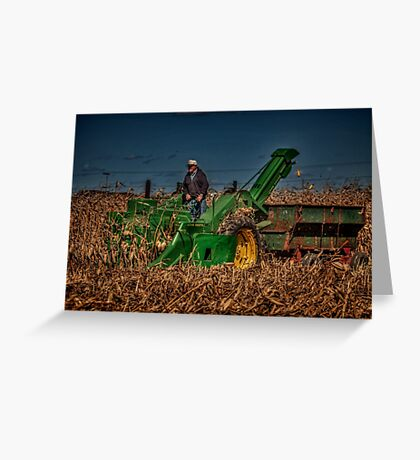 JD Corn Picker Greeting Card