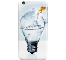 Fish in a light bulb iPhone Case/Skin