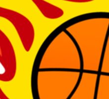 Basketball On Fire Sticker