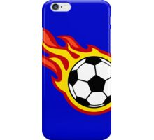 Soccer Ball On Fire iPhone Case/Skin