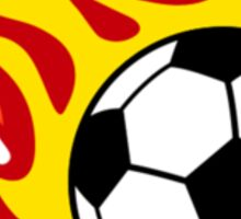 Soccer Ball On Fire Sticker