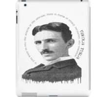 axiom6 tesla black and white iPad Case/Skin