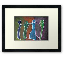 4 Sculptures Framed Print