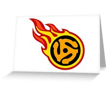 45 Spacer On Fire Greeting Card