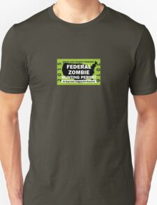 Federal/United States Zombie Hunting Permit 2015/2016 Unisex T-Shirt