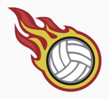 Volleyball On Fire by Garaga