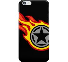 Star Decal On Fire iPhone Case/Skin