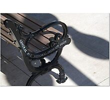 Hot Springs Bench Photographic Print
