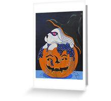 Halloween Bunny Greeting Card
