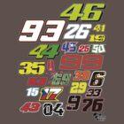 MotoGP Rider Numbers - 2015 by SKELEPUG
