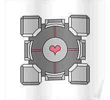 Portal Companion Cube Poster