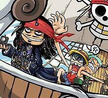 Johnny Depp meets Straw Hat Pirates by rajhe