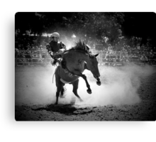 Rodeo Rider BW Canvas Print