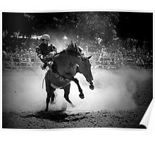 Rodeo Rider BW Poster