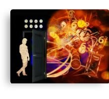 Open The Door To Time Travel Canvas Print