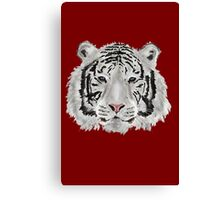 White Tiger (Red) Canvas Print