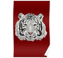 White Tiger (Red) Poster