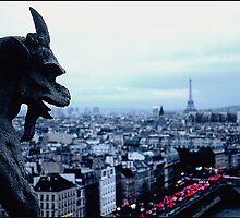 One Gargoyle in Paris by alanbrito