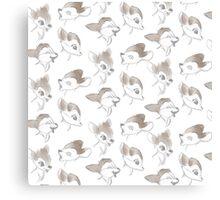 Bambi Pattern!  Canvas Print
