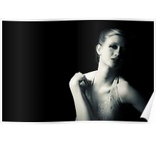 Glamour, bw, fashion, editorial Poster