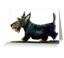 Scottie Dog on the Move Greeting Card