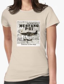 Mustang P51 Womens Fitted T-Shirt