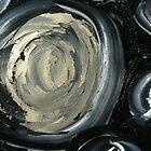 SILVER MOON - ABSTRACT by Dawn  Hough Sebaugh