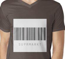 Suprmarkt - white square with black border Mens V-Neck T-Shirt