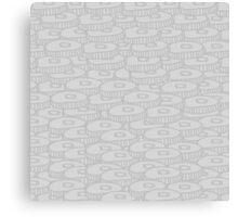grey coins Canvas Print