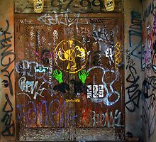 Doorway and two bottles of beer by John Mitchell