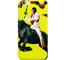 Heavy Metal Elvis Summons the Bats iPhone Case/Skin