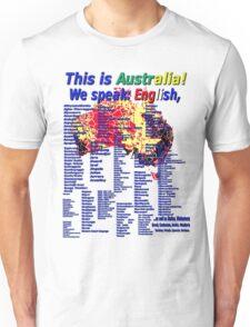 We Speak English Unisex T-Shirt