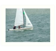 Sailing on the Inlet Art Print