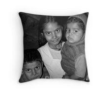 Children in Varanasi Slums, India 2008 Throw Pillow