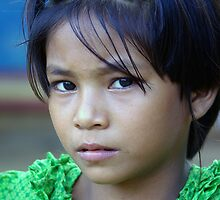 Burmese girl by John Mitchell