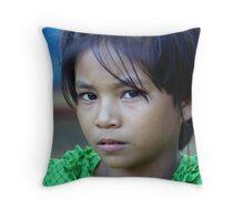 Burmese girl Throw Pillow