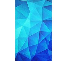 Abstract Polygon Multi Color Cubizm Painting in ice blue Photographic Print