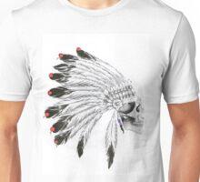 Indian Headdress Skull Unisex T-Shirt
