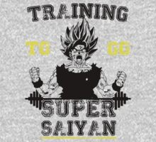 TRAINING TO GO SUPER SAIYAN  by GALAXE