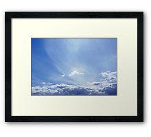 Rainbow @ 100kph...? Framed Print