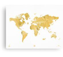 World map, gold Canvas Print