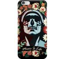 Music is life iPhone Case/Skin