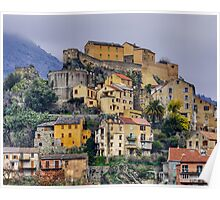 Corsica - Corte by a winter morning Poster