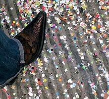 Boot with confetti by Rowland Jones