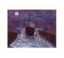 Entering the docks Art Print