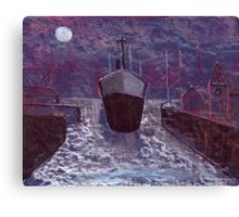 Entering the docks Canvas Print