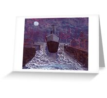 Entering the docks Greeting Card
