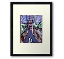 Footbridge over the railway Framed Print