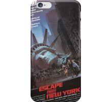 Escape From New-York - Vintage Movie Poster iPhone Case/Skin